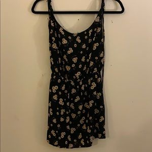 Mini flower print dress.